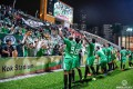 Wofoo Tai Po players celebrate in front of their fans after beating Kitchee in the AFC Cup at Mong Kok Stadium. Photo: Facebook/Tai Po