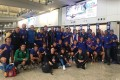 The Russian team after their arrival in Hong Kong. Photo: World Rugby