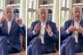 Screenshots from former US vice-president Joe Biden's 'apology' video. Photo: Joe Biden/Reuters