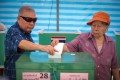 Thai voters cast their votes at a polling station in Bangkok, Thailand. Photo: EPA-EFE
