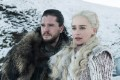 Jon Snow, played by Kit Harington, and Daenerys Targaryen, played by Emilia Clarke, in season 7 of Game of Thrones on HBO. Season 8 begins on April 14. Game of Thrones' creator George R.R. Martin will be watching, as he completes the final books in the series. Photo: TNS