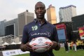 Former American sprinter Michael Johnson will obviously be cheering for the American squad when the Hong Kong Sevens kicks off. Photo: Nora Tam