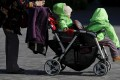 Two babies in a stroller in Beijing. Babytree is also banking on a boost from second child births in mainland China. Photo: Reuters