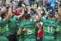 Ireland celebrate after beating Hong Kong at Hong Kong Stadium. Photo: K. Y. Cheng