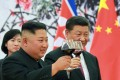 North Korean leader Kim Jong-un raises a glass with Chinese President Xi Jinping in June 2018 in Beijing. Though China has disapproved of North Korea's nuclear testing, its refusal to consider punitive measures that risk North Korea's collapse has limited the options available for changing Pyongyang's behaviour. Photo: AP