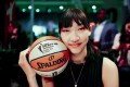 Han Xu of China before the WNBA women's basketball draft in New York. Photo: Xinhua