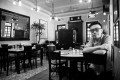 """Seow Wee Liam at Durbar at FMS, in Ipoh, capital of Perak state in Malaysia. His restaurant is in a renovated 1920s building where the town's first bar-restaurant was opened. """"This bar holds a lot of memories for people,"""" he says. Photo: Sharon Lam"""
