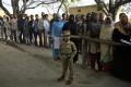 Indians wait to cast their votes in Uttar Pradesh. Photo: AP
