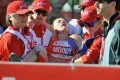 American athlete Tera Moody is carried off when she collapses after finishing the Chicago Marathon in 2015. Photo: Alamy