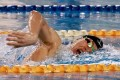 Cheuk Ming-ho on his way to a new Hong Kong record in the men's 400m freestyle. Photo: Chan Kin-wa