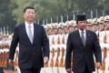 Chinese President Xi Jinping and Brunei's Sultan Haji Hassanal Bolkiah. Photo: Xinhua