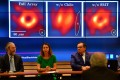 (Left to right) Experts Geoffrey Crew, Violette Impellizzeri and Xavier Barcons give a press conference on the hole in Chile on Wednesday. Photo: Xinuha