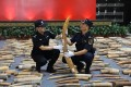 The haul of 2,748 elephant tusks was the biggest seizure of ivory handled by Chinese customs in recent years. Photo: Sina