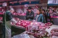 Pork for sale at a wholesale market in Beijing. China is the world's largest producer and consumer of the meat. Photo: Bloomberg