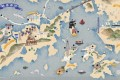 NGO Hulu Culture's Treasure Island map displaying what riches can be found on Hong Kong's outlying islands. Photo: Hulu Culture/Don Mak