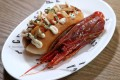 The red prawn hot dog with Josper grilled prawn head and red pepper purée proved a big hit at Pica Pica in Sheung Wan, Hong Kong. Photo: Winson Wong