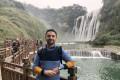 Daniel Herszberg by the Huangguoshu Falls in China's Guizhou province.