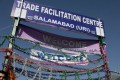 A trade centre in Pakistan-administered Kashmir. Photo: Reuters