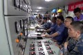 Technicians are seen at the control panels of China's new aircraft carrier in footage from its recent sea trial. Photo: Handout