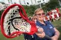 Sue Redfern, President of Federation of International Lacrosse at the Hong Kong Lacrosse Open. Photo: Felix Wong