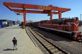 A direct freight train link now runs between the Chinese city of Yiwu and Madrid as part of the Belt and Road Initiative. Photo: Xinhua