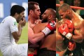 Luis Suarez, Kash Ali and Mike Tyson have all bitten their opponents. Photo: EPA, Reuters, Action Images