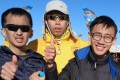 (From left): Wu Man-hang, Lam Pok-yin and Leung Hok-hin, three autistic runners, at the Marathon des Sables. Wu was bumped off a Royal Air Maroc flight and left alone in the airport despite his condition. Photos: Handout