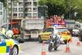 Scene of the fatal accident in Tsuen Wan on Saturday. Photo: Facebook