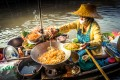 Pad Thai served from a boat in Amphawa, Thailand, for breakfast. Photo: Alamy