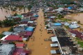A flooded area in Bangkulu, Sumatra. Photo: EPA