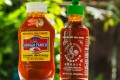 Thailand's Sriraja Panich hot sauce on the left, and Huy Fong Food's from the US. Photo: Shutterstock