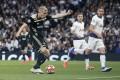 Ajax's Donny van der Beek scores the only goal against Tottenham Hotspur in the Uefa Champions League semi-final. Photo: Xinhua