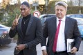 South Africa's runner Caster Semenya (left) arrives with her lawyer Gregory Nott for the first day of her hearing at the international Court of Arbitration for Sport (CAS) in Lausanne. Photo: EPA