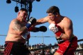 Andy Ruiz Jnr is hit by a hard right by Alexander Dimitrenko during their heavyweight fight in Carson, California last month. Photo: AFP