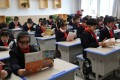 Chinese students use BrainCo headbands in class. Picture: Handout
