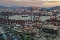 The Kwai Chung and Tsing Yi container terminal in Tsing Yi. Hong Kong's economy has felt the pinch of the US-China trade war. Photo: Martin Chan