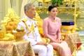 King Maha Vajiralongkorn and his consort, General Suthida Vajiralongkorn, named Queen Suthida, at their wedding ceremony in Bangkok. Photo: Reuters