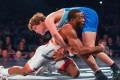 Jordan Burroughs goes to take down Ben Askren. Photo: United World Wrestling/Dustin Tillman
