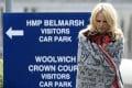 US actress Pamela Anderson leaves Belmarsh Prison in London after visiting WikiLeaks founder Julian Assange on Tuesday. Photo: PA via AP