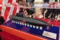 A model of Taiwan's planned home-built submarine, unveiled on Thursday. Photo: CNA