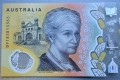 Australia's new $50 note has an error in the fine print behind the image of the country's first woman parliamentarian, Edith Cowan, where the word 'responsibility' is spelled 'responsibilty'. Photo: AFP