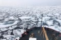 The USCG Healy icebreaker on a research mission in the Arctic Ocean. Photo: AP