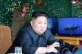 North Korean leader Kim Jong-un observing missile tests last weekend. Photo: AP/KCNA