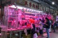 Some stalls selling fresh pork in Mei Foo fear they might have to close in the next few days. Photo: Naomi Ng