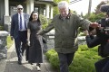 Huawei Technologies Chief Financial Officer Meng Wanzhou wears an electronic monitoring device on her ankle as she is escorted by security from her home on May 8, 2019 in Vancouver, Canada. Photo: AFP