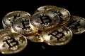 A collection of Bitcoin (virtual currency) tokens are displayed in this picture illustration taken December 8, 2017. Photo: REUTERS