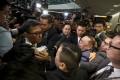 Abraham Razack attempts to enter the bills committee meeting at the Legislative Council. Photo: Sam Tsang