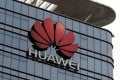 The Huawei logo outside its factory campus in Dongguan in March. Photo: Reuters
