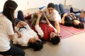 A yoga class for children with special needs and adults with disabilities in Sai Ying Pun, Hong Kong. Photo: K.Y. Cheng