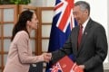New Zealand's Prime Minister Jacinda Ardern with her Singaporean counterpart Lee Hsien Loong. Photo: AFP
